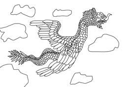Ausmalbilder Drachen Basteln Gestalten