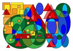 Malvorlage Quadrat