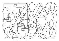Malvorlagen Kreise Dreiecke Quadrate Ellipsen Basteln Gestalten