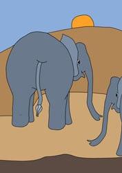 Ausmalbilder Tiere Elefant