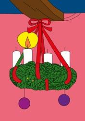 Ausmalbild Advent