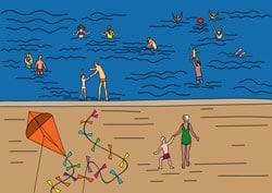 Ausmalbilder - Ferien am Meer