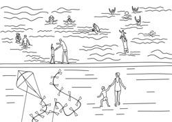 Ausmalbilder Ferien Am Meer Basteln Gestalten