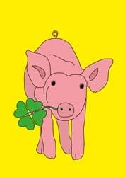 Malvorlage Glücksschwein