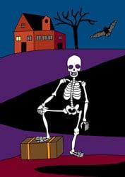 Malvorlage Skelett