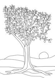 Malvorlagen - Herbstbaum
