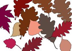 Ausmalbilder - Herbst