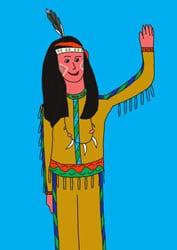 Malvorlagen Indianer