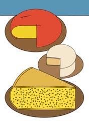 Ausmalbilder Käse