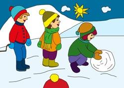 Ausmalbilder für den Winter