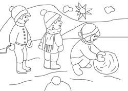Malvorlagen Für Den Winter Basteln Gestalten