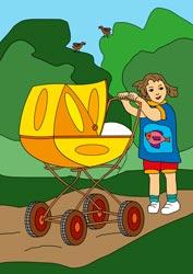Ausmalbilder Kinderwagen