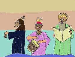 Malvorlage Könige