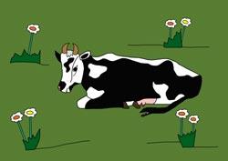 Malvorlage - Kuh