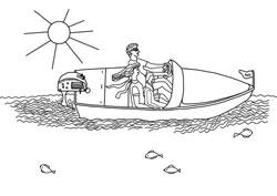 Motorboot malvorlage  Ausmalbilder - Ferien am Meer | Basteln & Gestalten