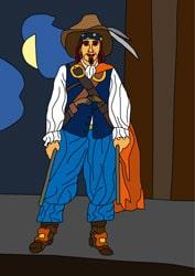 Malvorlagen - Pirat 4