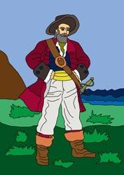 Malvorlagen - Pirat 1