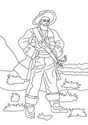 ausmalbilder - piraten   basteln  gestalten
