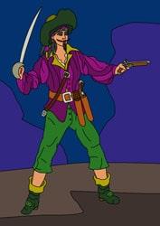 Ausmalbilder Pirat