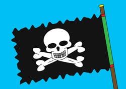 Ausmalbilder Piratenflagge