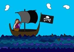 Ausmalbilder Piratenschiff