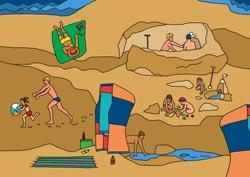 Ausmalbilder Sandspiele