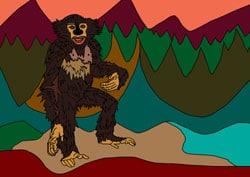 Ausmalbilder Schimpanse