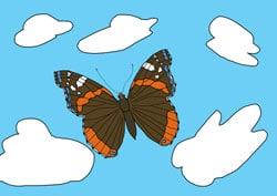 Ausmalbilder Schmetterling