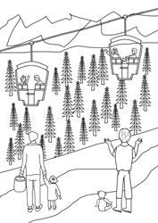Ausmalbilder Ferien In Den Bergen Basteln Gestalten