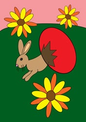 Malvorlage für Ostern