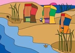 Malvorlage Strand