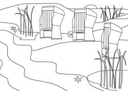 Strandkorb malvorlage  Ausmalbilder - Strandurlaub | Basteln & Gestalten