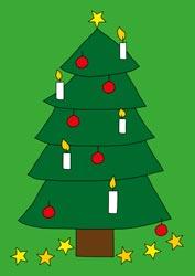 Ausmalbilder Weihnachtbaum