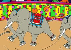 Ausmalbilder Elefanten