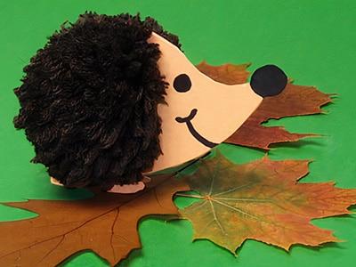 Herbst Igel basteln