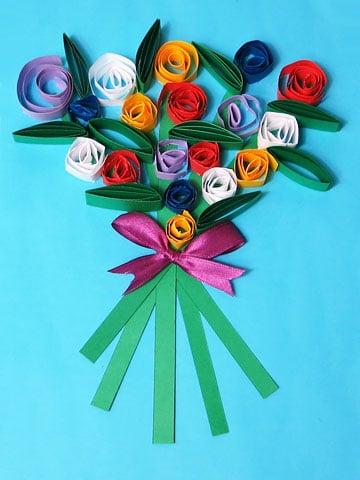 Blumenstrauß basteln
