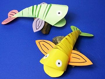 fröhliche Fische basteln