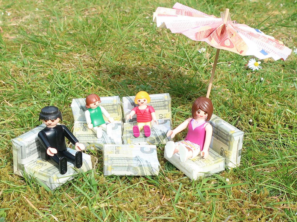 Geldgeschenk für Gartenmöbel