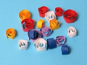 Blüten basteln