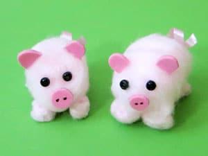 Schweinchen basteln