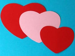 Herzen aus Rosen
