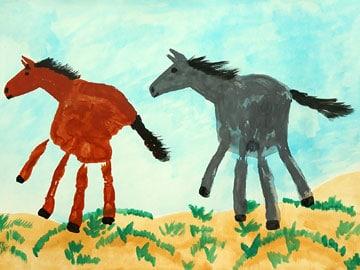 Handabdruck - Pferde