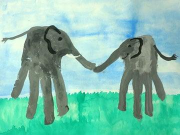 Handprint - Elefanten