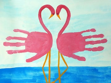 Handprint - Flamingos