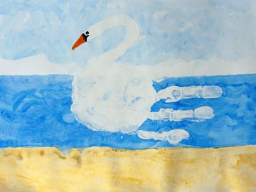 Handprint - Schwan