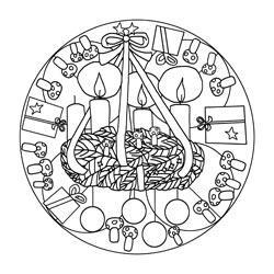 Kinder Kleurplaten Winter Mandalas Zum Advent Basteln Amp Gestalten