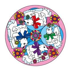 Mandala Vorlagen für Glückwünsche