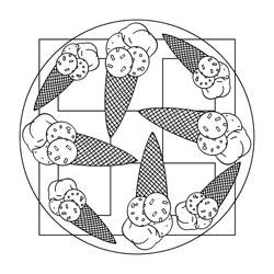 Mandalas Mit Eis Basteln Gestalten