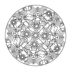 Mandalas Für Ostern Basteln Gestalten