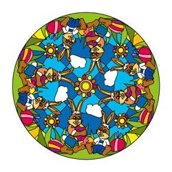 Mandalavorlage Oster - Mandalas